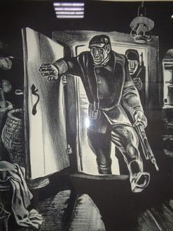 Быков В. Знак беды.1982.Бумага,тушь. Автолитография. 45х60