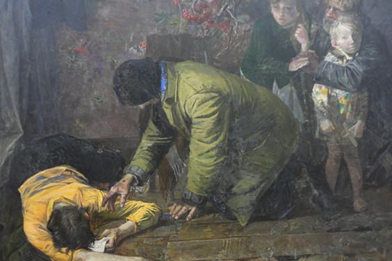 Сафронов В. Скорбь.1987.Холст,масло.150х200