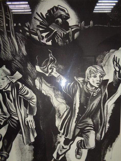 Быков В. Автолитография.1982.Бумага, тушь.45х60