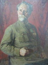Галицкий Р. Портрет ветерана.1950.Холст, масло.81х64