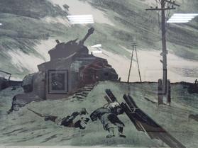 Усыпенко Ф. Враг остановлен.41 километр от Москвы.1968. Бумага,тушь.50х60