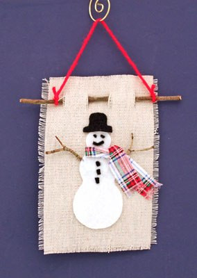 Felt and Twig Snowman from funEZcrafts