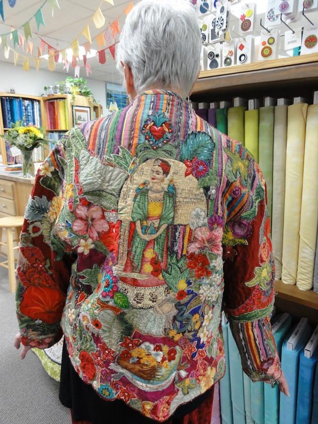 Frida Kahlo jacket by Margaret Linderman based on a pattern by Marci Tilton.
