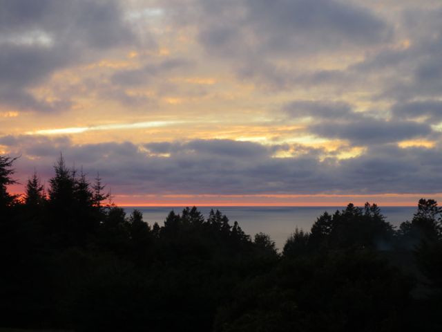 December: Watercolor sunset, Mendocino