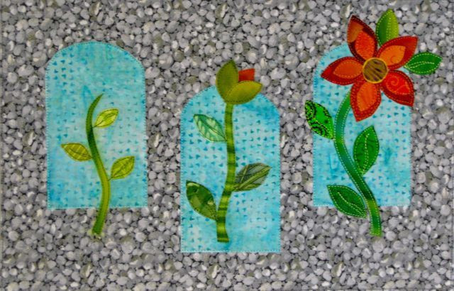 "Bloom, 13 1/2"" x 9"", made by Darra Williamson, 2012."