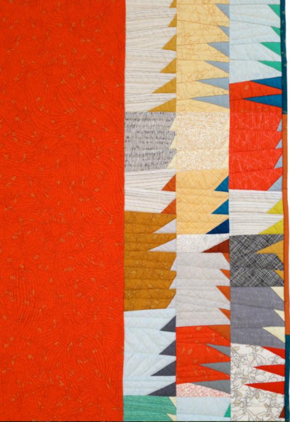 Quilt-J: Focal quilt by Carolyn Friedlander