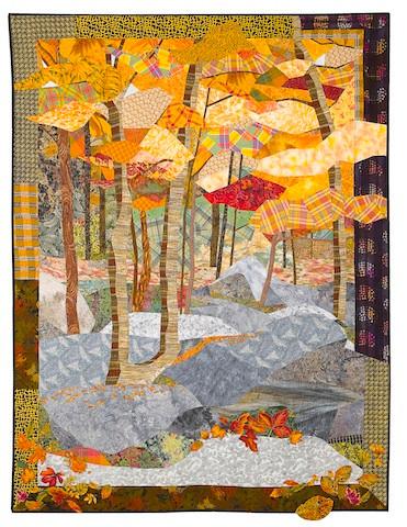 "Beech Trees (57"" x 77""), made by Sue Rasmussen"