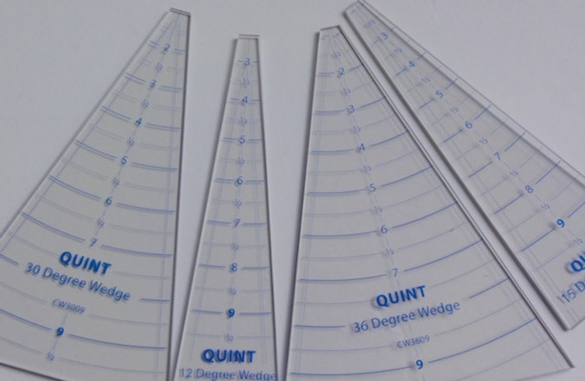 """New Wedge rulers from Quint offers sizes from 9-36 degrees and lengths up to 24""""."""