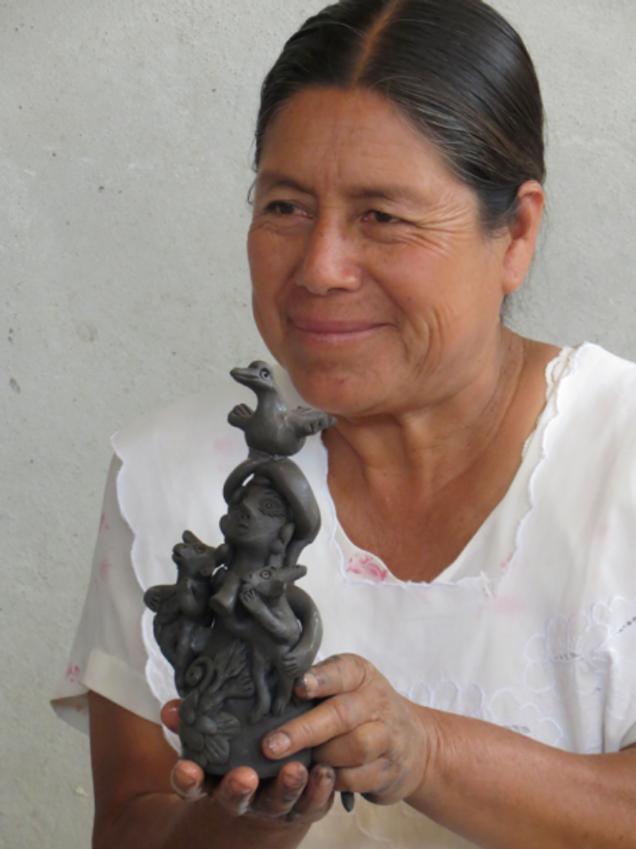 Irma Blanco, a internationally renowned ceramicist from Oaxaca.