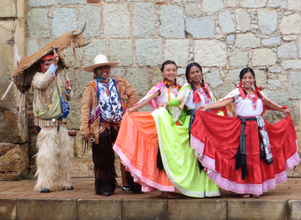 Posing on the streets of Oaxaca.