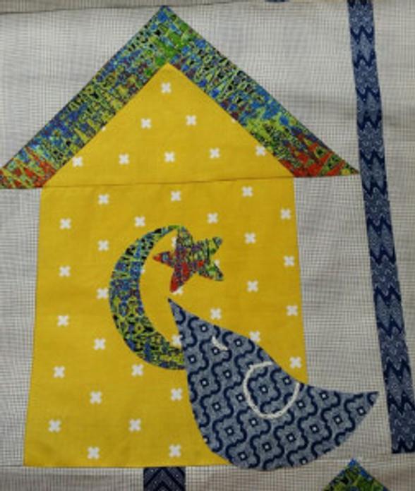 Indigo Bird Houses close up by Pati Fried