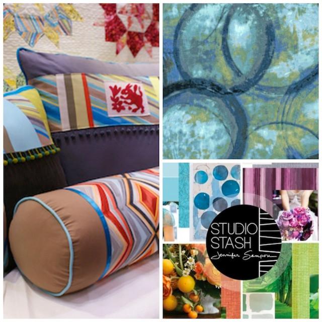 Fiesta collection on left, Continuum in upper right and Studio Stash lower right.