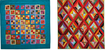 Raffle quilts at the 2014 Voices in Cloth Quilt Show