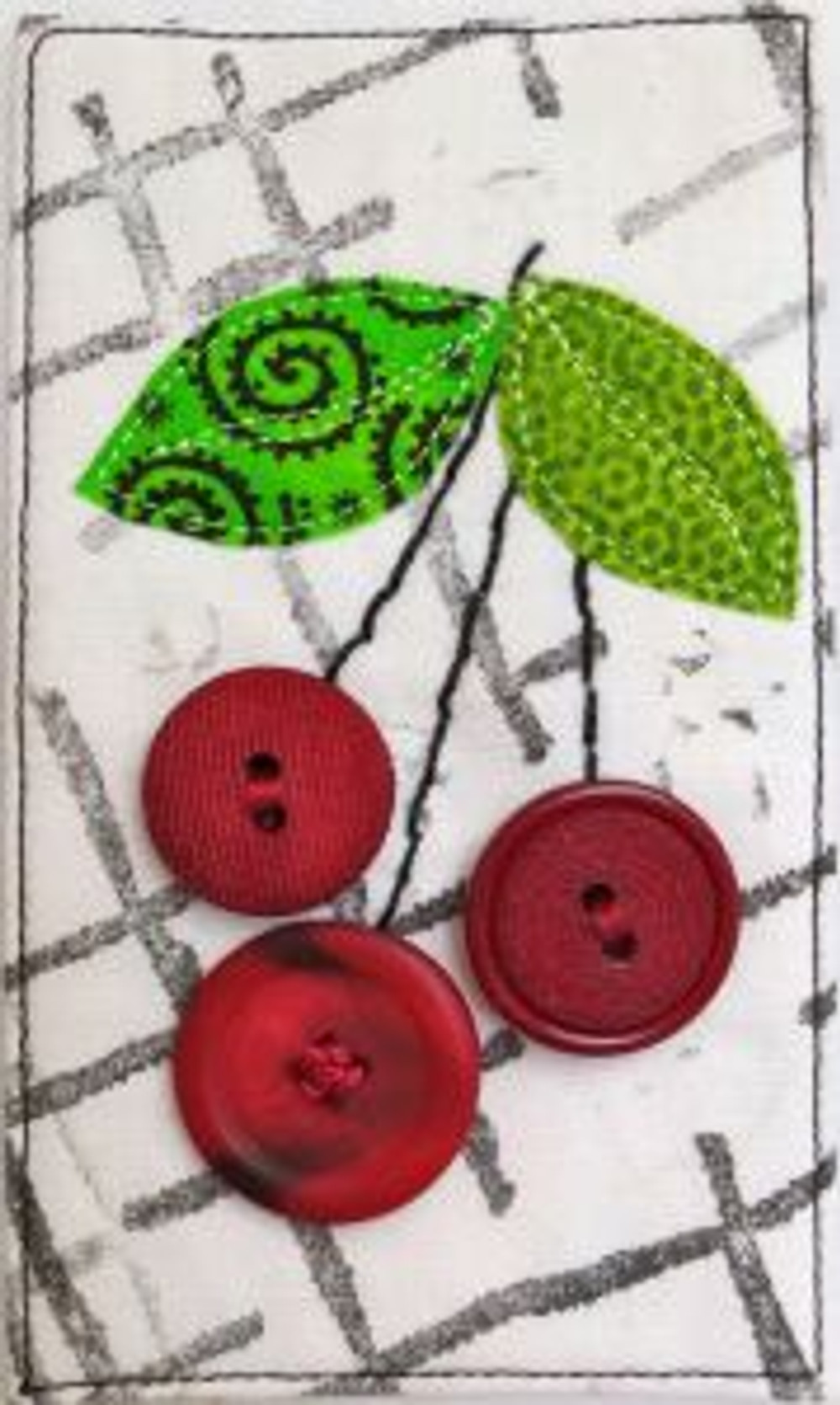 """Cherries Jubilee (3"""" x 5"""") by Darra Williamson; tutorial on The Quilt Life website"""
