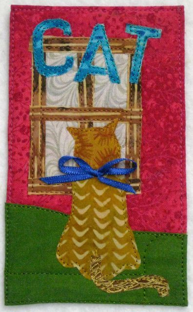 """Scooter at the Window, 3"""" x 5"""", made by Darra Williamson"""