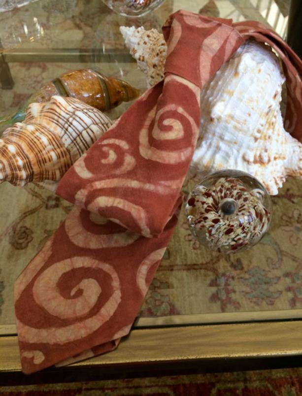 Inspiration-J:  My father's batik tie