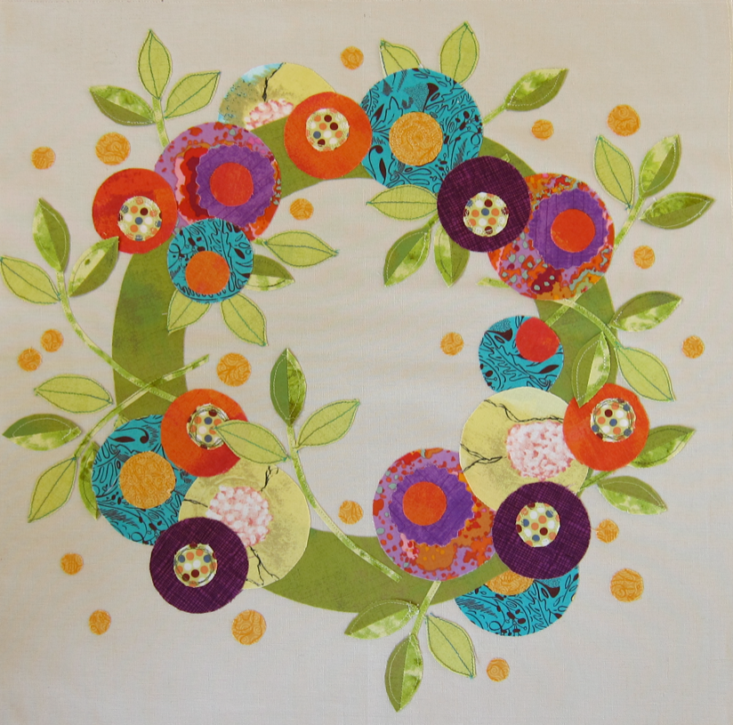 Slightly cropped view of the center wreath block.