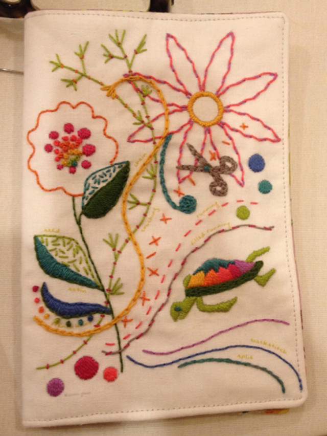 Alison Glass embroidery needle book