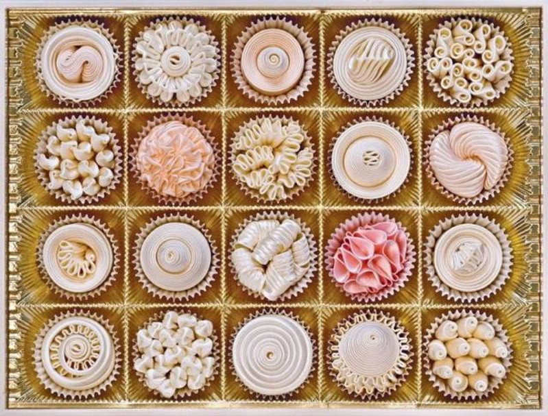 """Good enough to eat? Candace Kling's delicious """"Eye Candy"""" may fool you, but the confections are made of fabric!"""