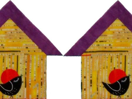 Time for Quilt-Along Panel 1- Blackbirds & Blossoms, Oh-La-La!