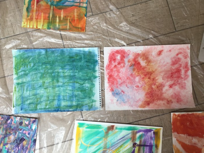 paintings from a craft napa workshop