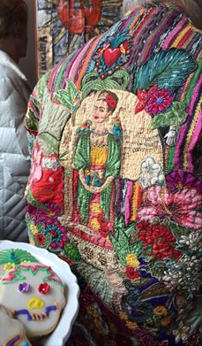 It was no surprise that Margaret arrived at the party wearing one of her Frida inspired jackets.