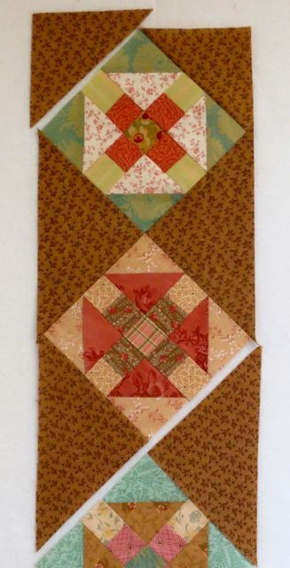 Churn Dash H Square sides sewn