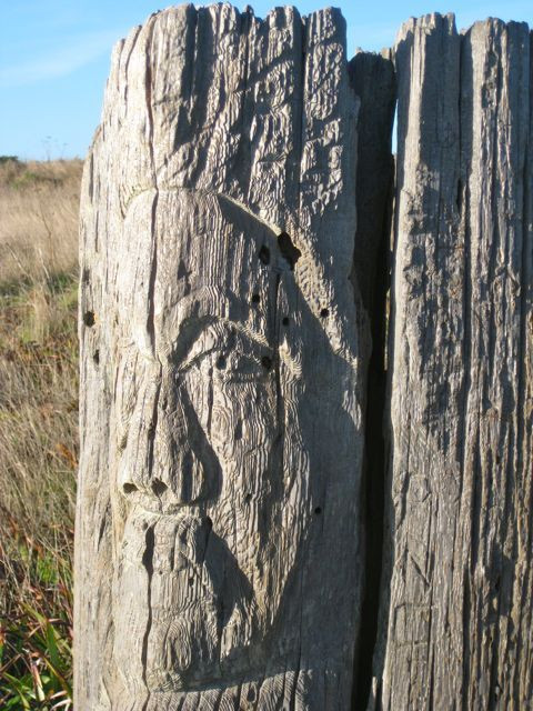 Unexpected art along the headlands
