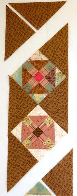 Churn Dash Q Square sides sewn