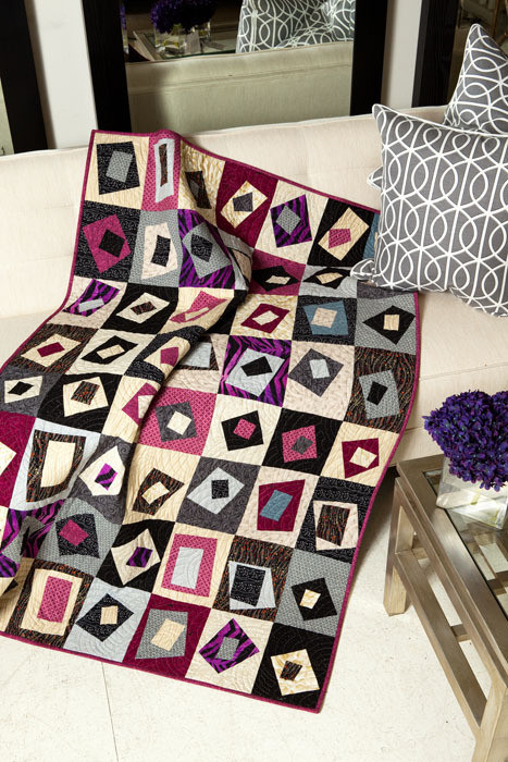 """Squares Out of Square (42"""" x 62""""), designed and made by Karla Alexander"""