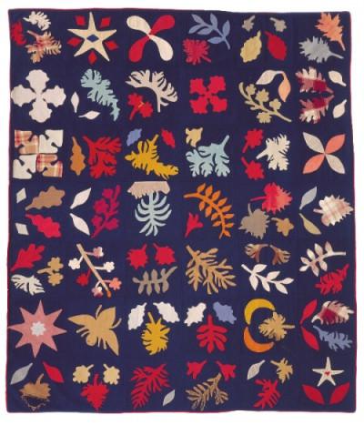 Appliqué Sampler Circa 1890. Collected in Penobscot, ME. Wools.