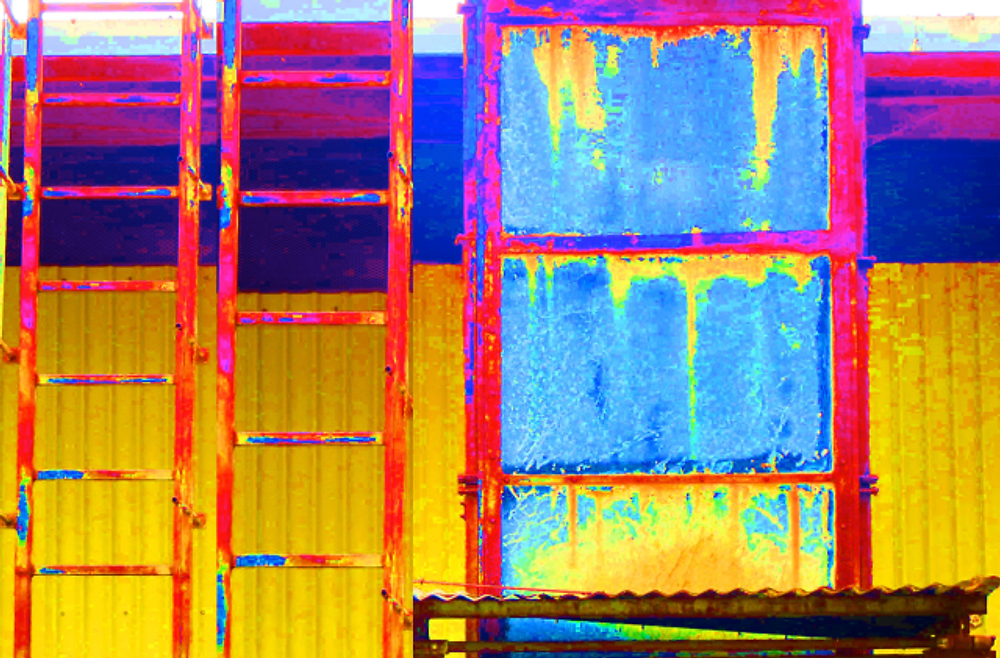Inspiration-CR:  Colorized Coffee Mill Kona, Hawaii by Cyndy Rymer