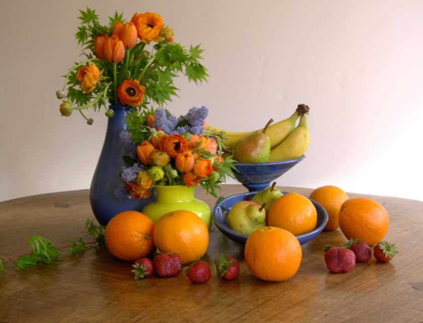My first still life photograph--not quite the scale of Jan Van Huysum, but I'll get there someday.