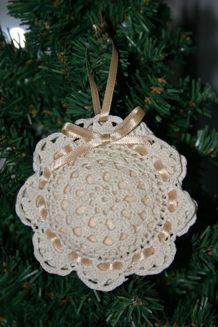 Doily Sachet Ornament from funEZcrafts