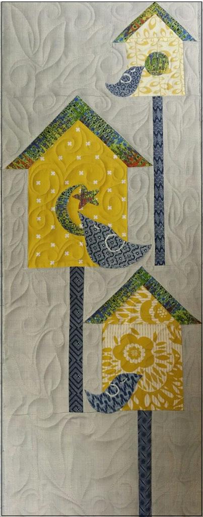 Indigo Bird Houses by Pati Fried
