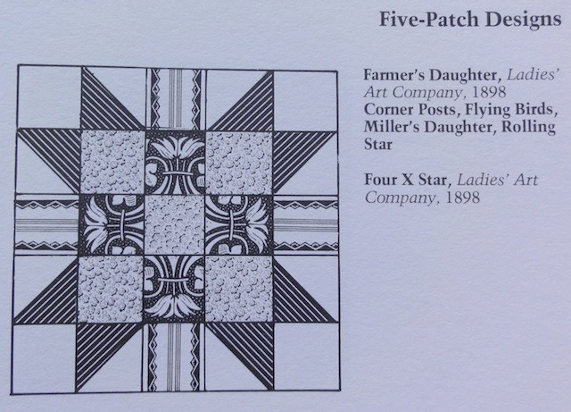 Notice that this pattern has five equal divisions, both horizontally and vertically.