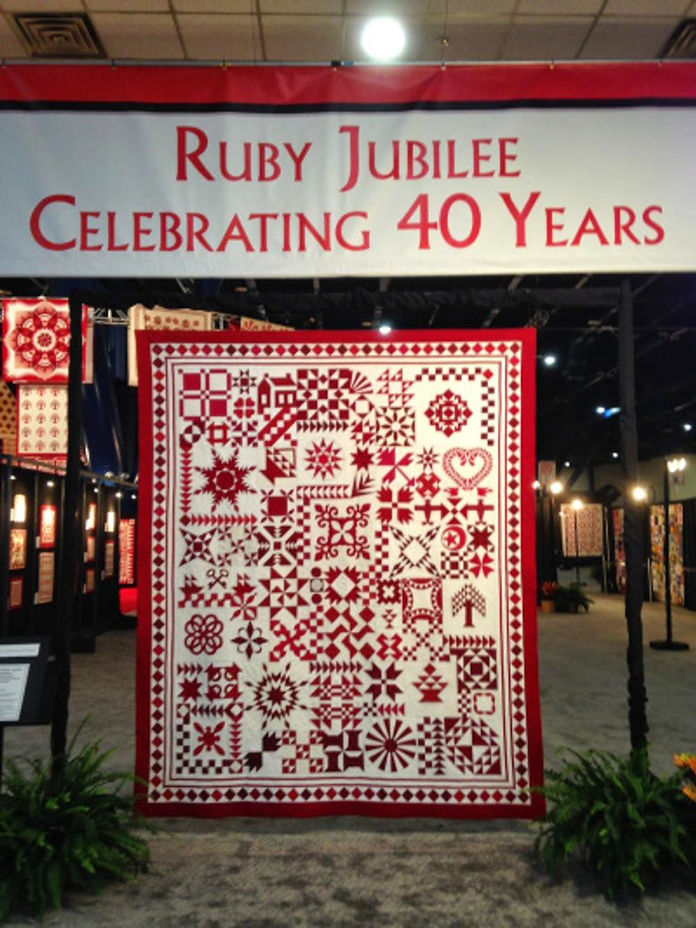 Ruby Jubilee, International Quilt Market 2014