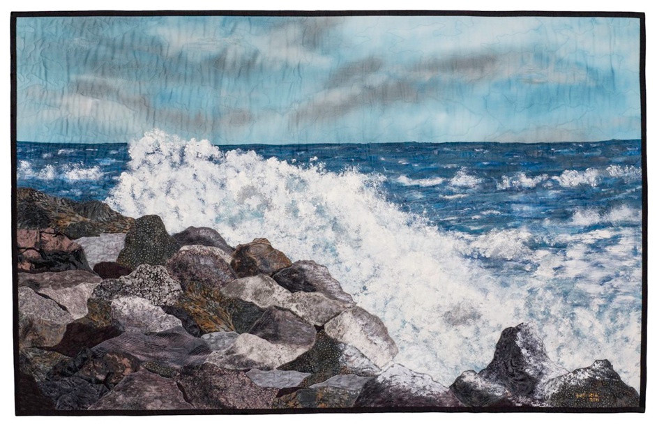 Dancing Waves, © 2011 Patricia Gould, 31 x 49 inches. Photo courtesy of the artist.