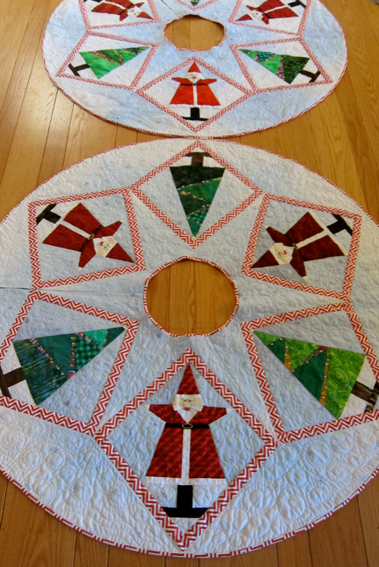 Pattern-J: Santa Smiles Tree Skirts