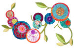 Quilt-Along Panel 2 for Blackbirds & Blossoms Oh-La-La!