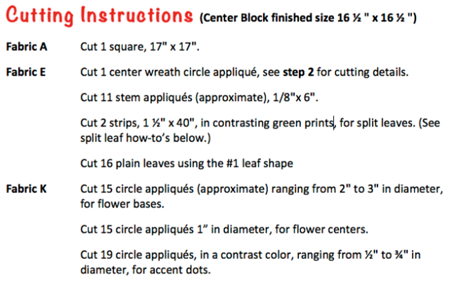 Quilt-Along-J:  Cutting Instructions