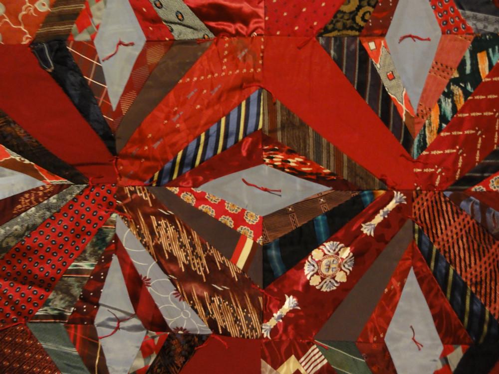 Detail of Silk Ties by Sue Bulkeley.