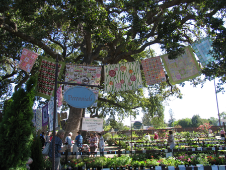 Bye-bye African Quilts, Hello Quilting in the Garden at Alden Lane: New Exhibit Debuts Today at SHWS