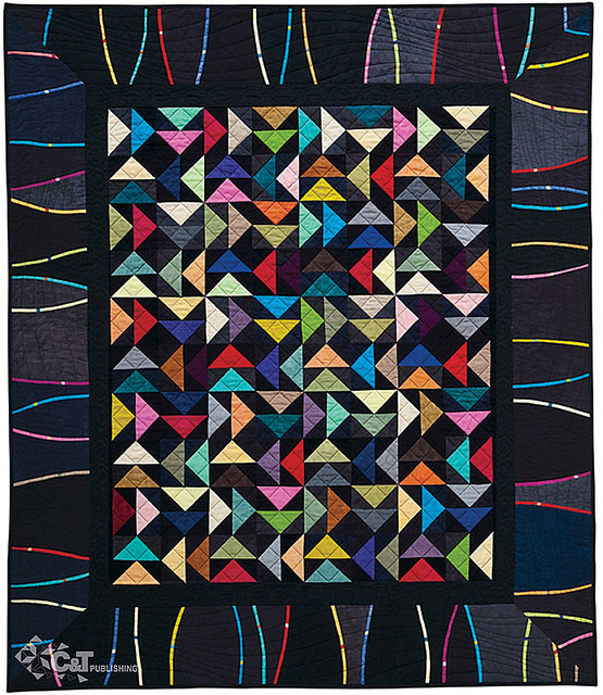 """Double Flying Geese, 49 1/2"""" x 57 1/2"""", designed and pieced by Alex Anderson, machine quilted by Dianne Schweickert. Photo courtesy of C&T Publishing."""