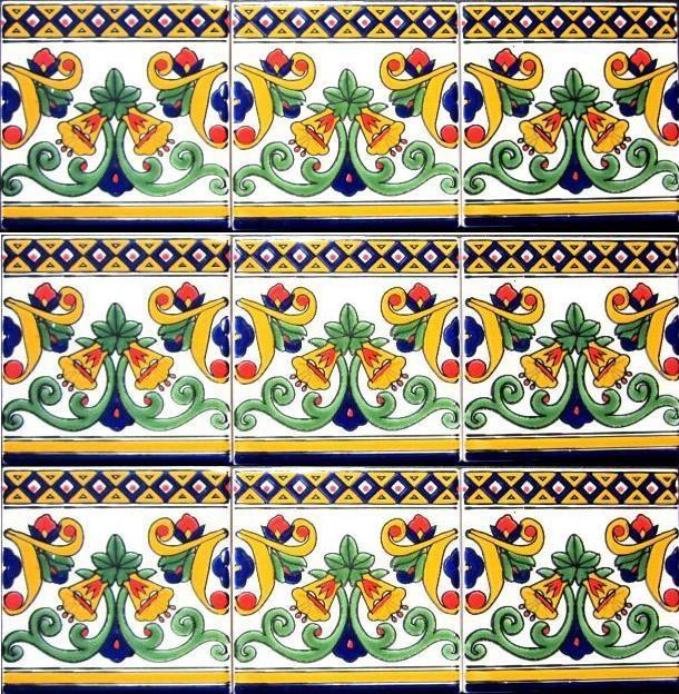 Meditteranean hand painted tiles -Tunisia