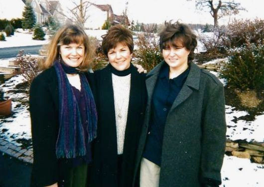 """The three """"Stever girls"""" (Darra, Loretta, and Charlie), heading off on an early sisters' weekend"""