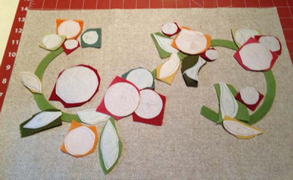 Wool Blossom Pillow - Audition fabrics