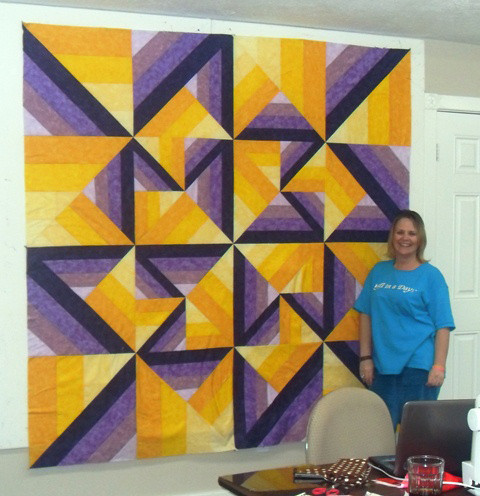 Sherry's Unexpected Twist from Mystery Quilt Retreat