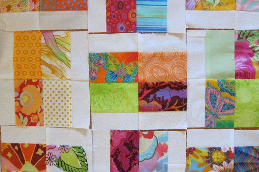 Quilt-J:  Fat Quarter Quilt Detail