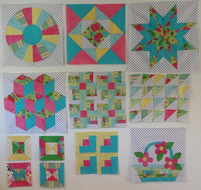 All of the blocks from the 2013 Craftsy BOM.